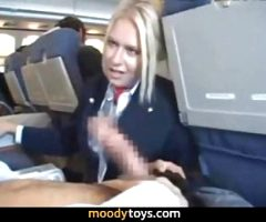 Airplane Worker Sucks Cock