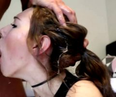 Amateur Slut Getting Her Throat Stretched Out