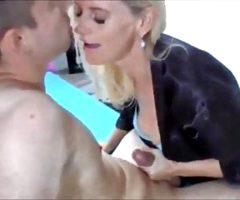 Amazing amateur MILF Seduces Young guy & fuck