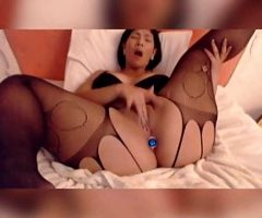 BBW Asian in Lingerie Touches Herself Sexually on Webcam