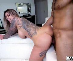 Beautiful Tattooed Babe Karma RX Doggystyle On The Sofa