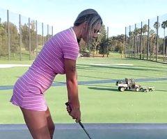 BIG TITS Blonde TEEN Gabbie Carter Hits A Hole-In-One
