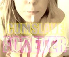 Blonde Sissy Caption Cumslave
