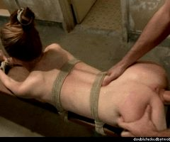 Bound chick gets fucked deep