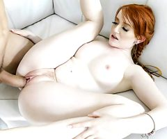 BraceFaced – Barely Legal Ginger Teen Bounces On a Huge Cock