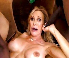 Brandi Love Works On Two Big Black Cocks – Cuckold Sessions