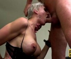 Busty fetish milf throats and rides
