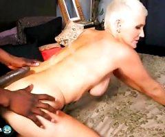 Cougar Lexy in interracial action