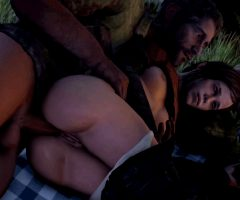Ellie – Anal Sex outside while resting.