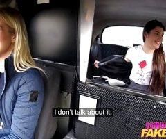 Female Fake Taxi Backseat lesbian orgasm lessons
