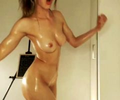 Fit And Oiled Girl With A Perfect Body..