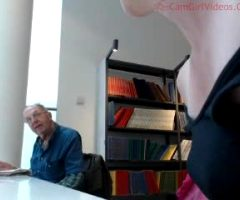 Flashing The Old Man In The Library