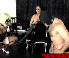 german bdsm femdom domina and 2 bisexual slaves