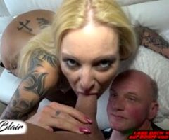 German Real Amateur Couple and A Cuckold Slave