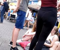 German Teen with Bubblebooty in Spandex