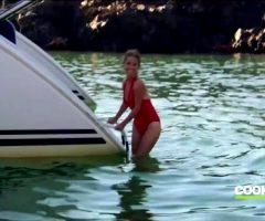 Giada Going For A Swim