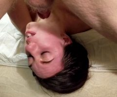 Girl Pukes On Her Own Face After Facefuck