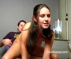 Kacey Kox Rides The Shaft