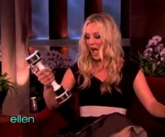 Kaley Cuoco And Her Shake Weight