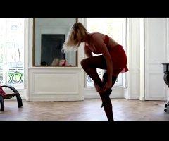 Karlie Kloss In Red Lingerie
