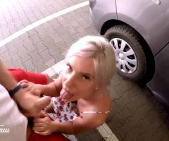 Kate Truu Swallowing Cum In The Parking Lot
