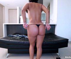 Latina Carolina Rivera Taking Her Thong Off And Shaking Her Big Ass