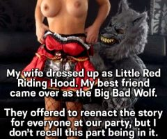 Little Red Riding Ho and the Big Cock Wolf