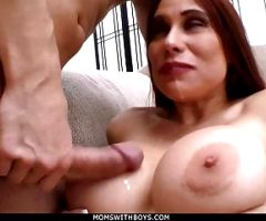 MomsWithBoys – Busty Wife Sheila Marie Hardcore Couch Sex