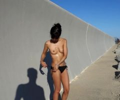 Naked And Squirting Next To The Beach Side