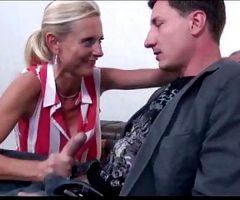 Naughty Mature MILF Seduce and Fucks Her Business Partner