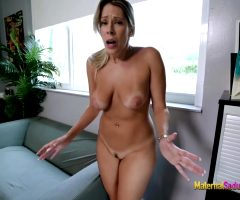Nikki Brooks In Hot Step Mom Is Stuck In The Office Couch