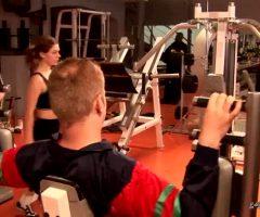 Olga Pavlenko Flashing Big Boobies At The Gym GIF