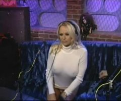 Pamela Anderson Teases Howard Stern On His Radio Show.