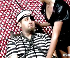 Prisoner gets pleasured by a stunning naughty princes
