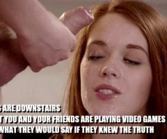Redhead Facials Instead Of Video Games Sissy Caption