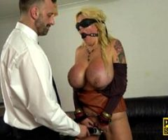 Restrained milf gets anally fucked and toyed