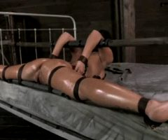 Scorching Hot bondage with babe spread WIDE, getting roughly fucked