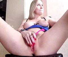 Sexy hot blonde masturbate very hard
