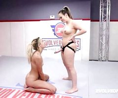 Sophia Grace lesbian wrestling fight vs Carmen Valentina