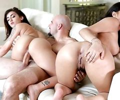 StepSiblings – Step Sisters Fuck Boss For Job