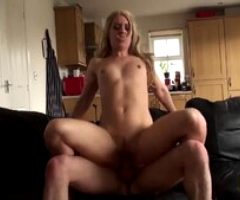 Stunning British Babe Riding Huge Cock