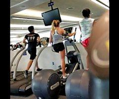 Teen girl at gym