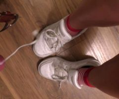 True Story: Before We Left The House, She Wanted To Be Fucked And Cummed On Her Sneakers To Wear My Cum All Night. I Came Twice. What A Mess. OC, HD Vid In Comments.