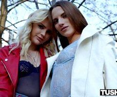 TUSHYRAW Lika & Stella need a huge cock to fill their tight