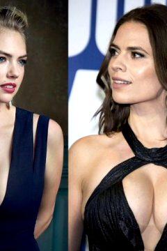 Battle Of The Big Titties: Christina Hendricks Vs Kat Dennings Vs Kate Upton Vs Hayley Atwell Vs Salma Hayek Vs Milana Vayntrub