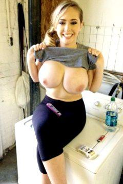 big breasts flashing leggings mature milf