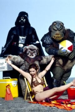 Carrie Fisher As Princess Leia Promoting Star Wars