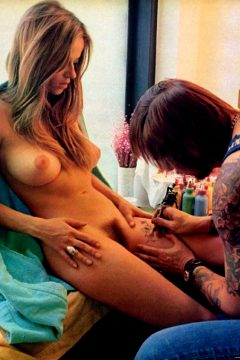 Chicago Tattooist Cliff Raven And A Client, 1972