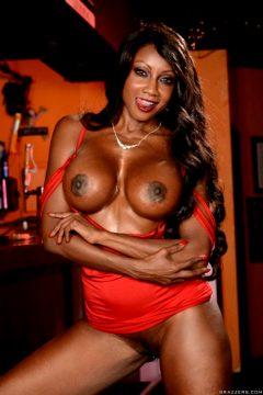 Diamond Jackson – Busty In Red Dress