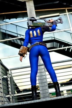 Giada Robin cosplaying Fallout 4 Pipboy